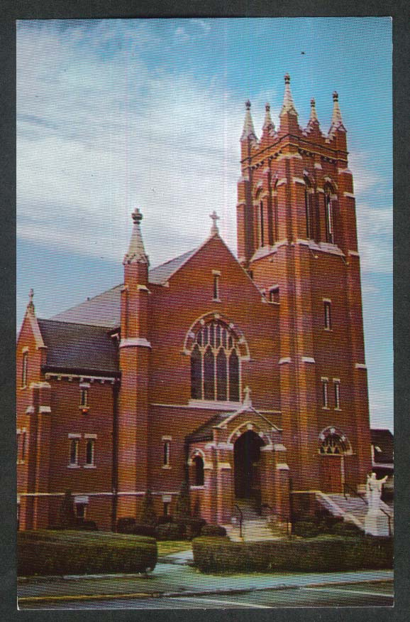 Sacred Heart Church South Main Street Bradford MA postcard 1950s