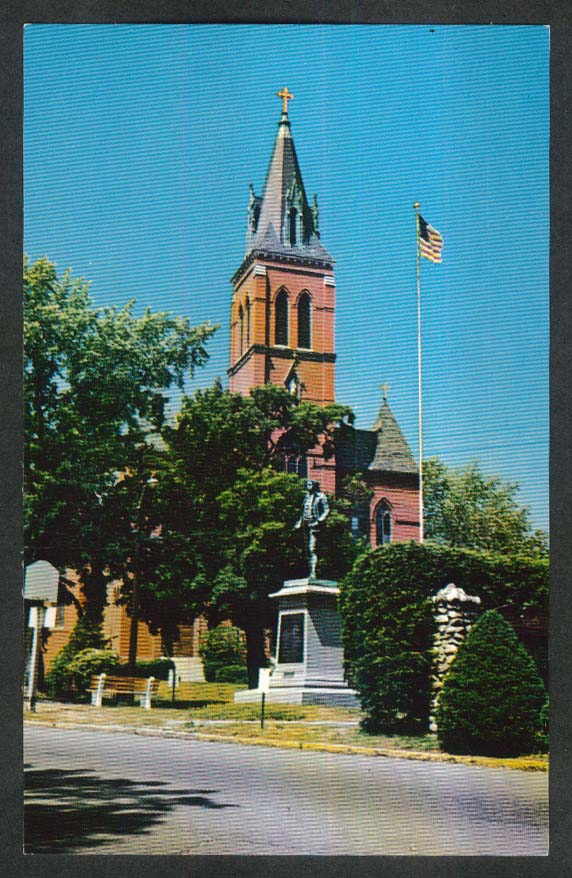 St Joseph's Roman Catholic Church Huntington Square Amesbury MA postcard 1950s