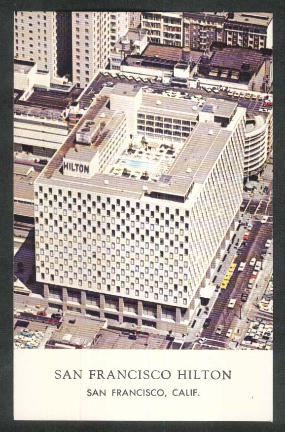 San Francisco Hilton CA postcard 1960s