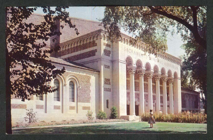 Municipal Auditorium Sacramento CA postcard 1950s
