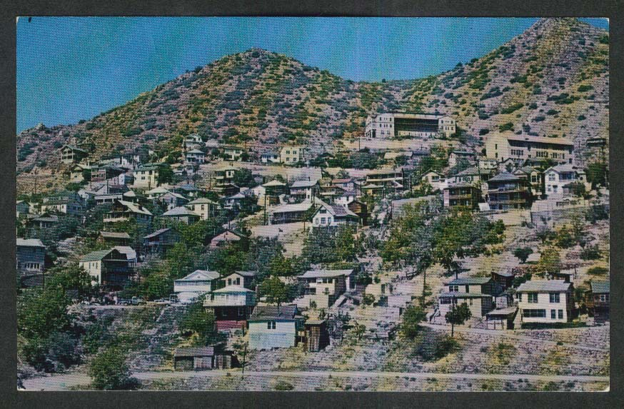 Ghost Town of Jerome AZ postcard 1950s
