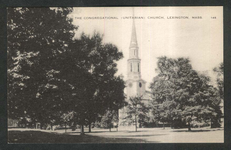 The Congregational Unitarian Church Lexington MA postcard 1920s