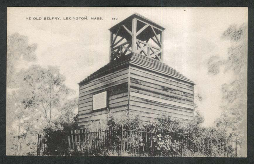 Ye Old Belfry Lexington MA postcard 1920s