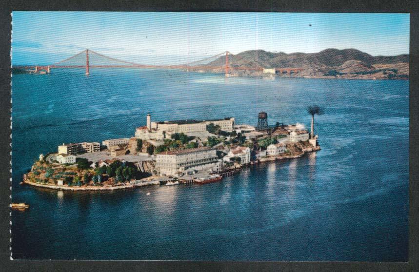 Alcatraz Island San Francisco CA postcard 1950s
