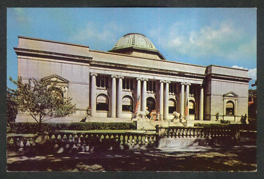 Roswell P Flower Memorial Library Watertown NY postcard 1950s