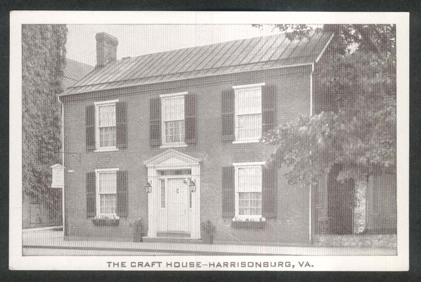 The Craft House Harrisonburg VA postcard 1960s