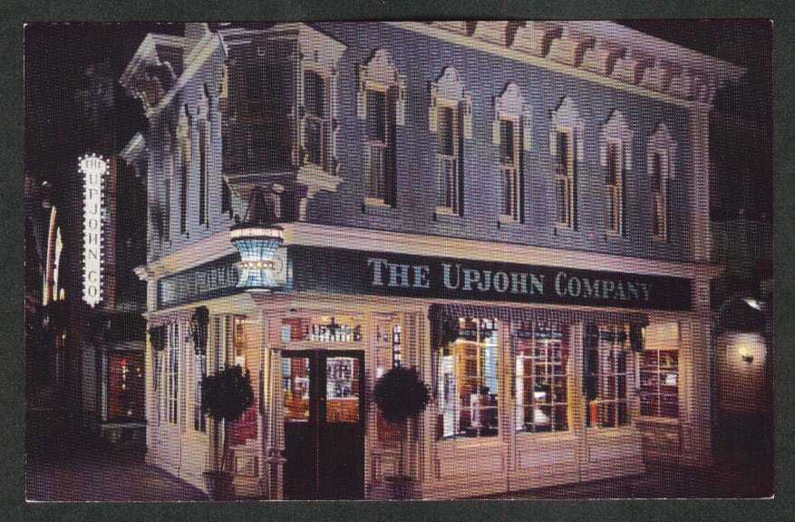 The Upjohn Company Drugstore Disneyland CA postcard 1960s