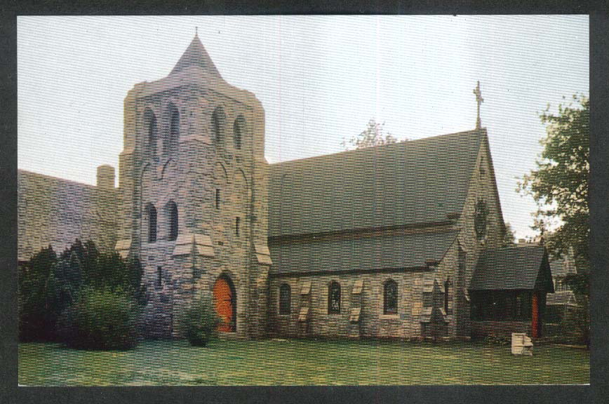 St Peter's-by-the-Sea Narragansett RI postcard 1950s