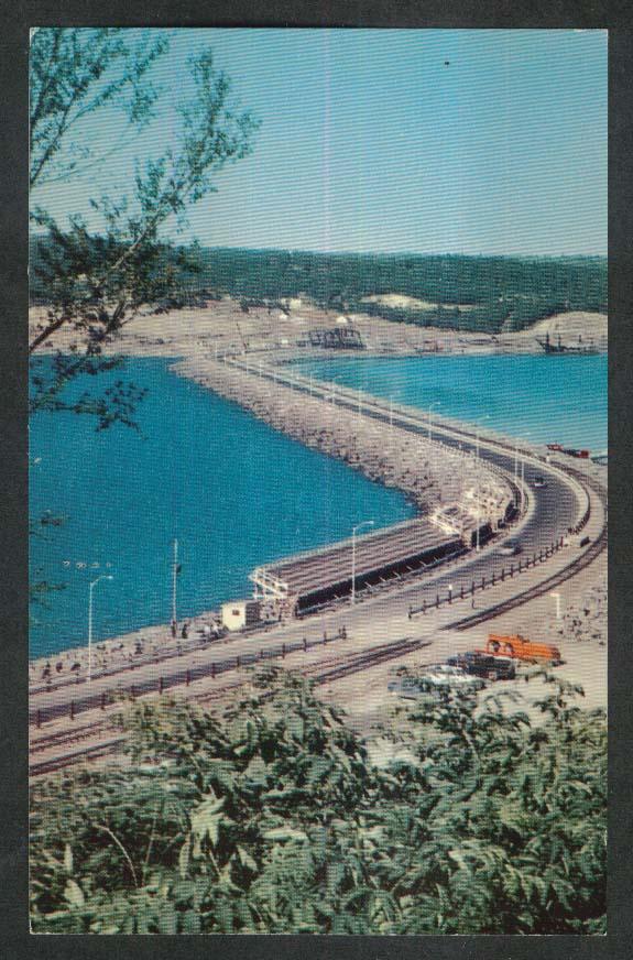 Canso Causeway Nova Scotia Canada postcard 1950s
