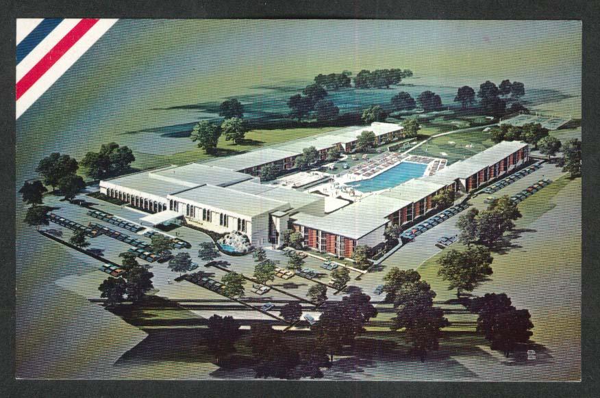 Americana Host Inn Harrisburg PA postcard 1970s