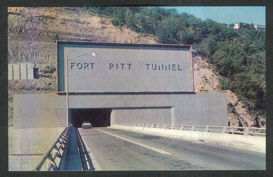 Fort Pitt Tunnel Mt Washington NH postcard 1950s