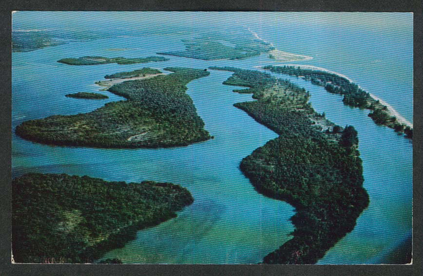Stump Pass Lemon Bay FL postcard 1960s