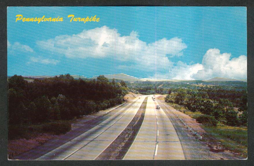 Pennsylvania Turnpike Gateway PA postcard 1950s