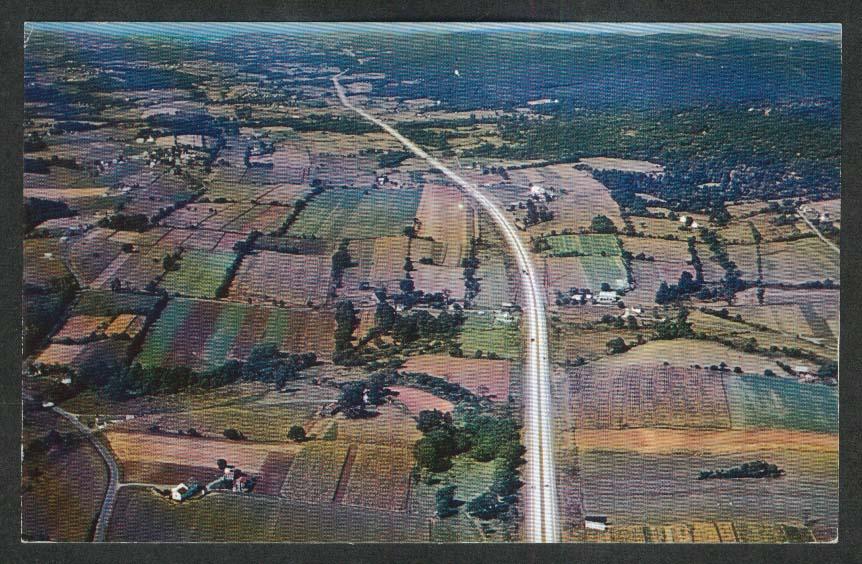 Pennsylvania Turnpike Dauphin County PA postcard 1950s