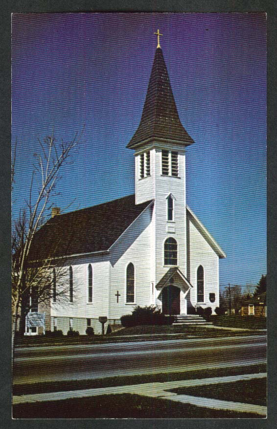 Immanuel Evangelical Lutheran Church Webster NY postcard 1960s