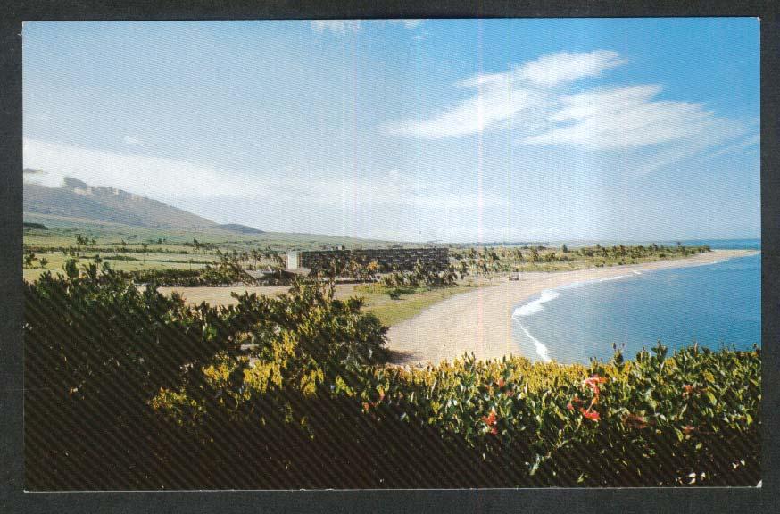 Kaanapali Beach Hotel Lahaina Maui HI postcard 1960s