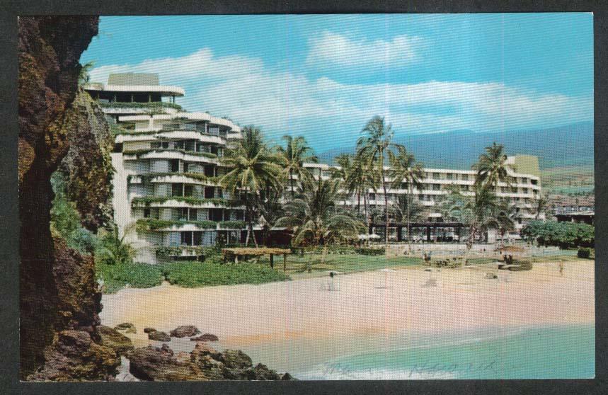 Sheraton Maui Kaanapali Beach HI postcard 1950s