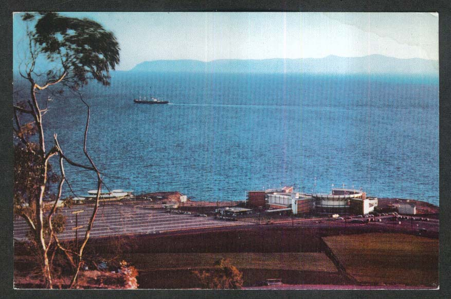 Palos Verdes Peninsula Long Point CA Union 76 Oil Company postcard 1940s