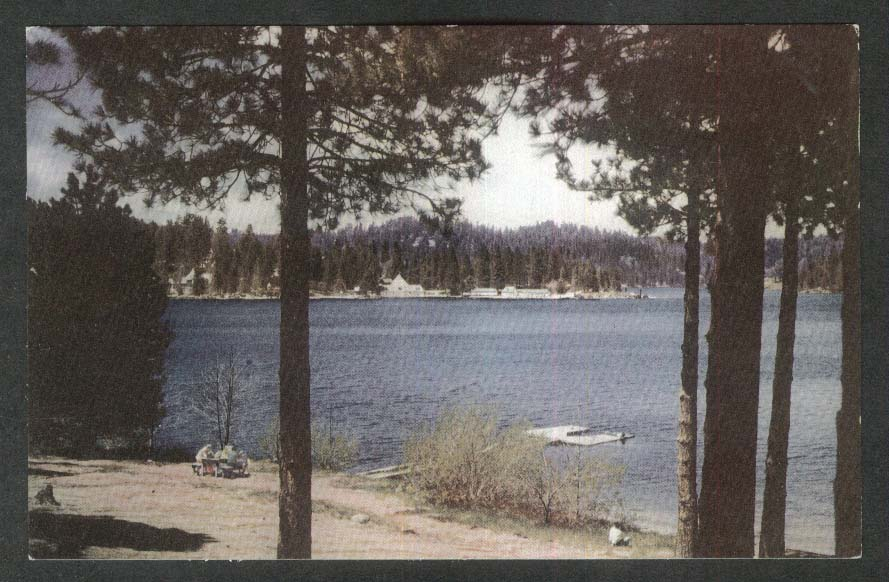 Lake Arrowhead CA Union 76 Oil Company postcard #27 1940