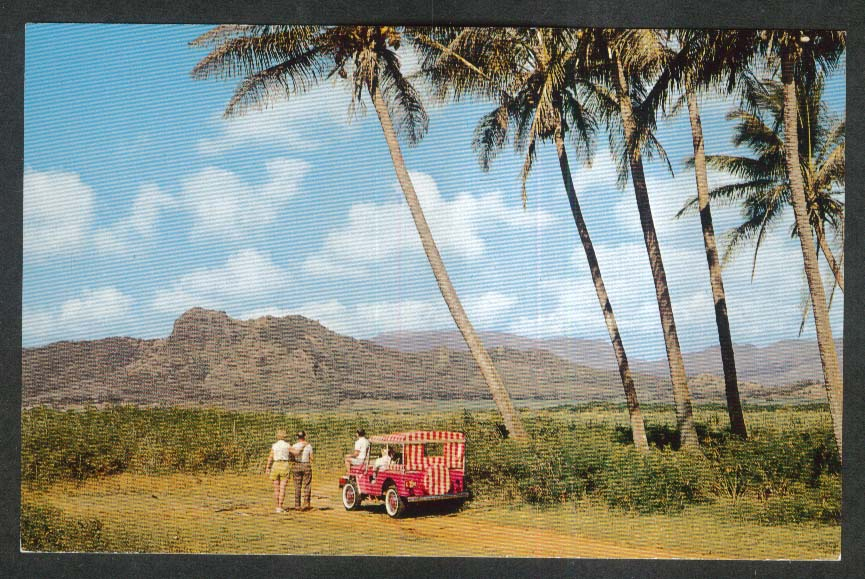 Sleeping Giant Island of Kauai HI postcard 1950s