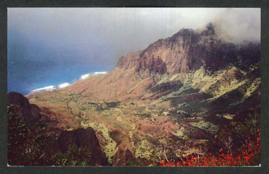 Kalalau Valley Kauai HI postcard 1950s