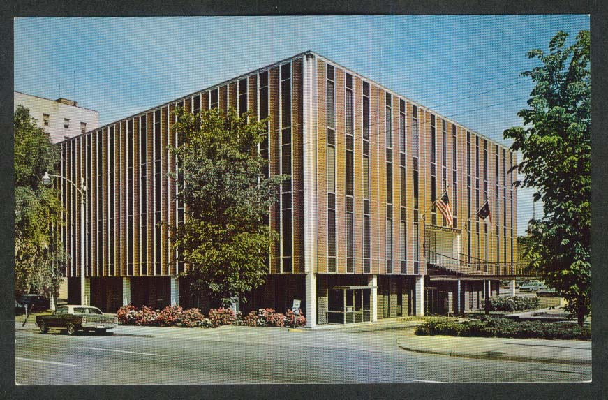 Municipal Building McDowell & Hargett St Raleigh NC postcard 1960s