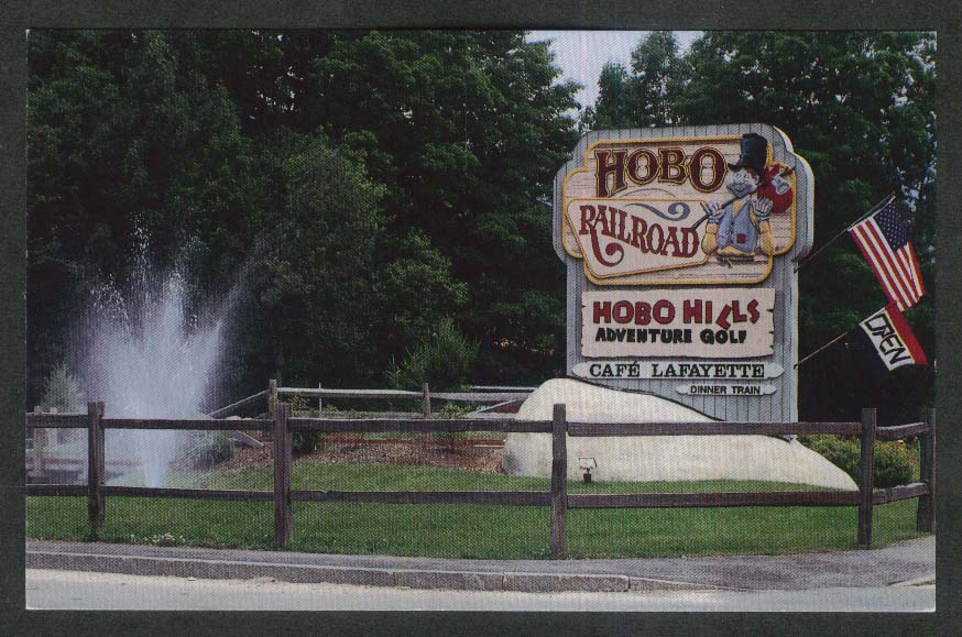 Hobo Railroad Lincoln NH postcard 1980s
