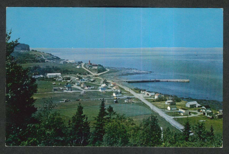 Riviere-A-Marthe Gaspe Nord Quebec Canada postcard 1950s