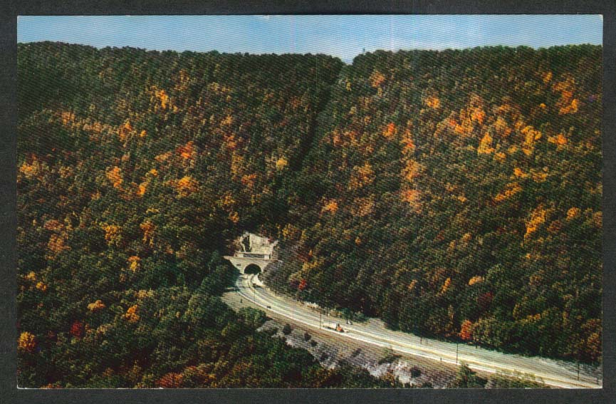 Pennsylvania Turnpike Blue Mountain Tunnel PA postcard 1950s