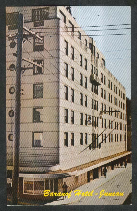 Baranof Hotel Juneau AK postcard 1950s