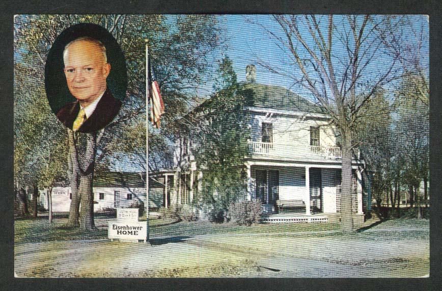 Boyhood Home of President Dwight D Eisenhower Abilene KS postcard
