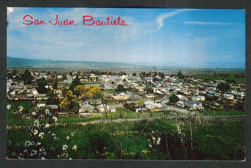 Old Mission Town San Juan Bautista CA postcard 1960s