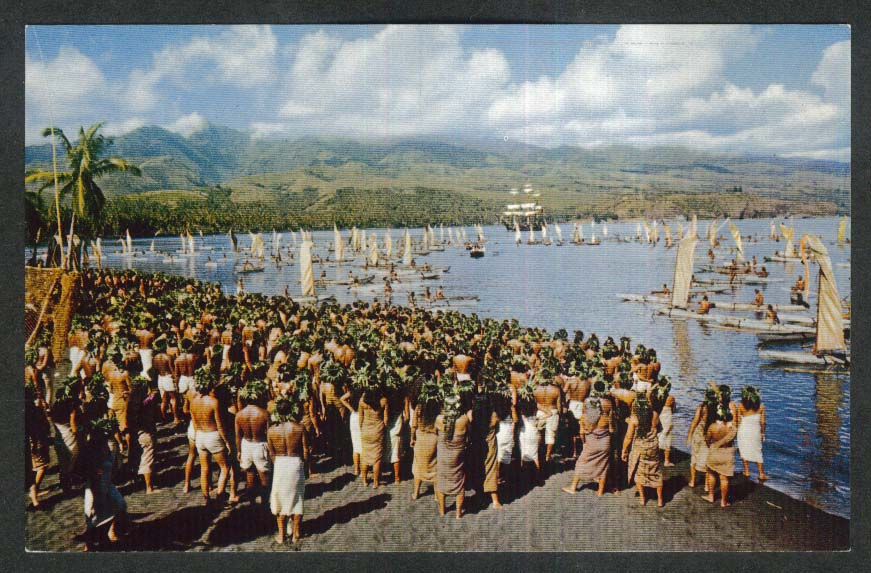 Scene from Mutiny on the Bounty Tahiti Metro-Goldwyn-Mayer postcard 1960s