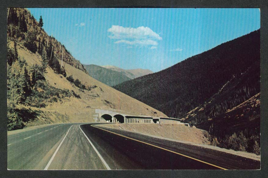 Snowsheds Rogers Pass British Columbia Canada postcard 1960s