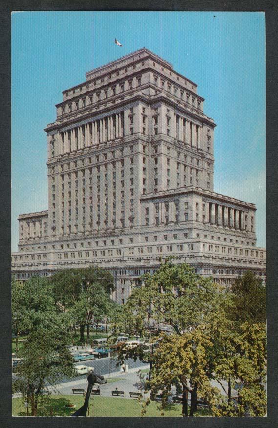 Sun Life Building Dominion Square Montreal Quebec Canada postcard 1950s