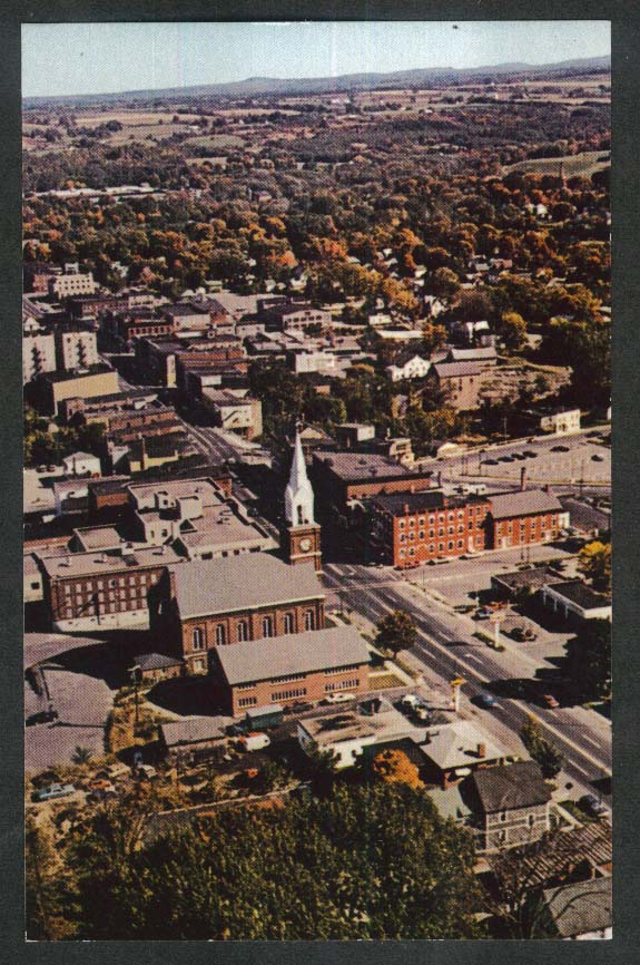 Centenary United Methodist Church Main Street Malone NY postcard 1960s