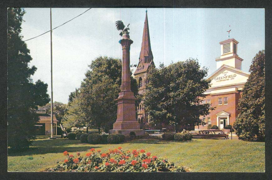 Common in Greenfield MA postcard 1960s