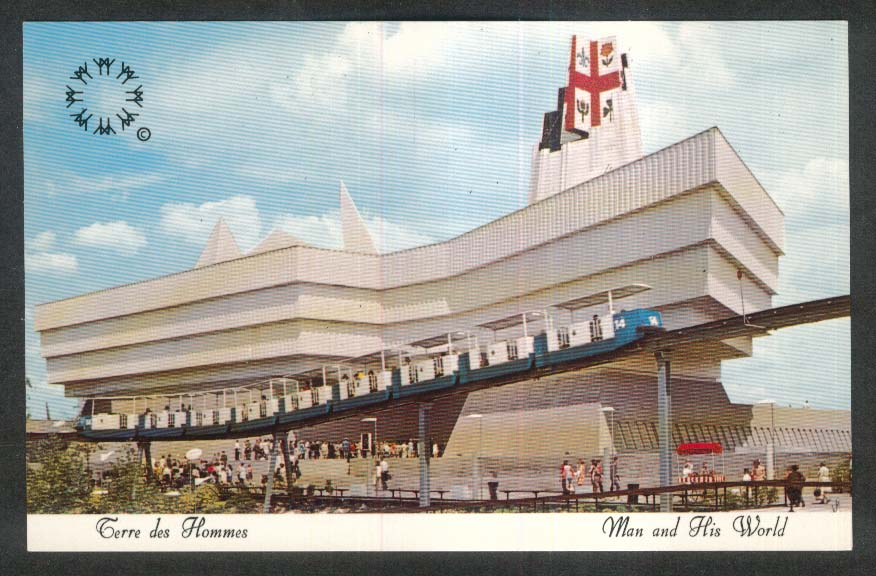 Terre des Hommes Music Belfry Expo 67 Montreal Canada postcard
