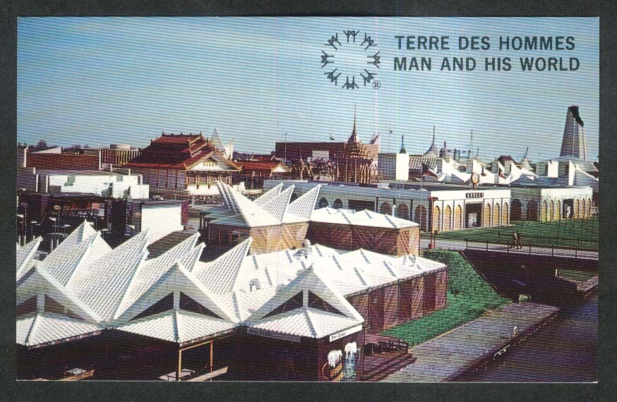 Terre des Hommes Montreal Canada Expo 67 Ile Notre Dame postcard