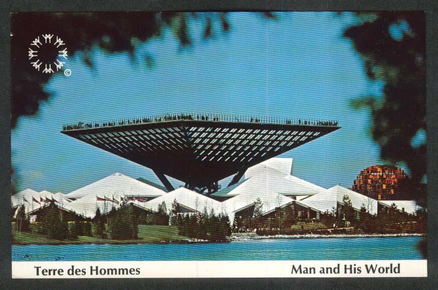 Katimavik Terre des Hommes Expo 67 Montreal Canada postcard