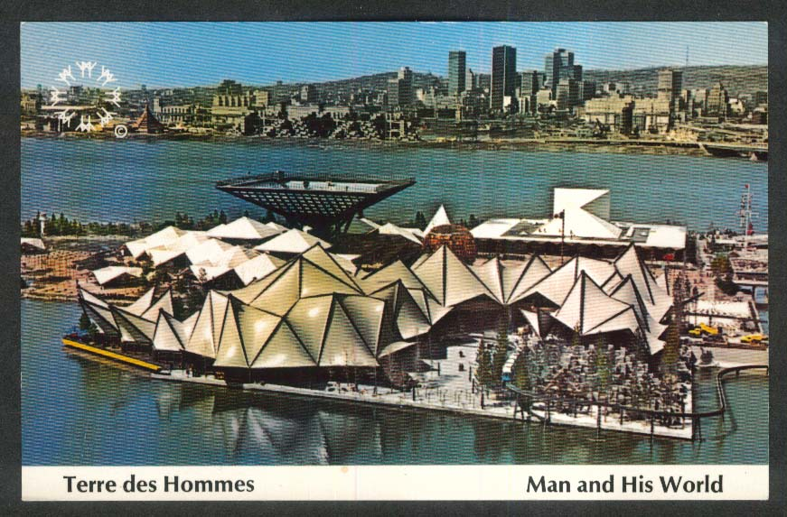 Terre des Hommes Face of Winter Expo 67 Montreal Canada postcard 1967