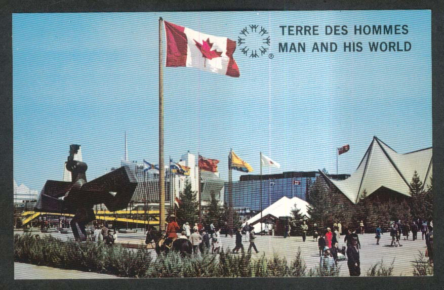 Terres Des Hommes Katimavik Expo 67 Ile Notre Dame Montreal Canada postcard 1967