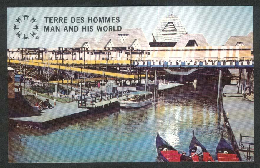 Terre Des Hommes Theme Pavilion Ile Notre-Dame Montreal Canada postcard 1967