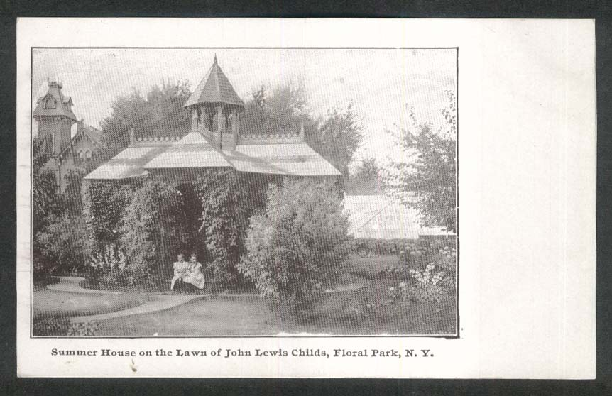 Summer House Lawn John Lewis Childs Floral Park NY undivided back postcard 1900s