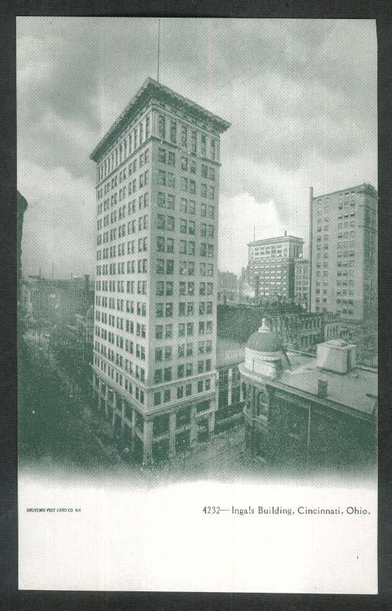 Ingals Building Cincinnati OH undivided back postcard 1900s