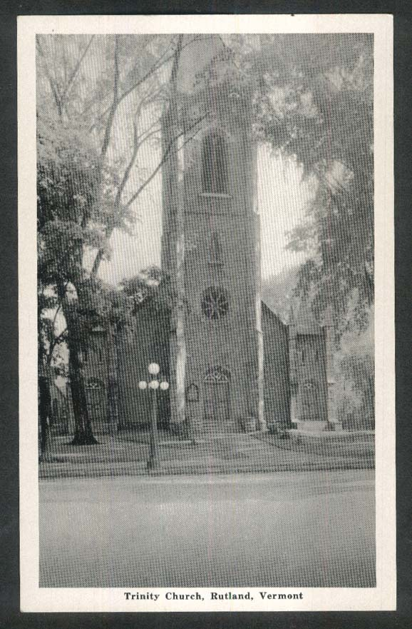 Trinity Church Rutland VT postcard 1930s