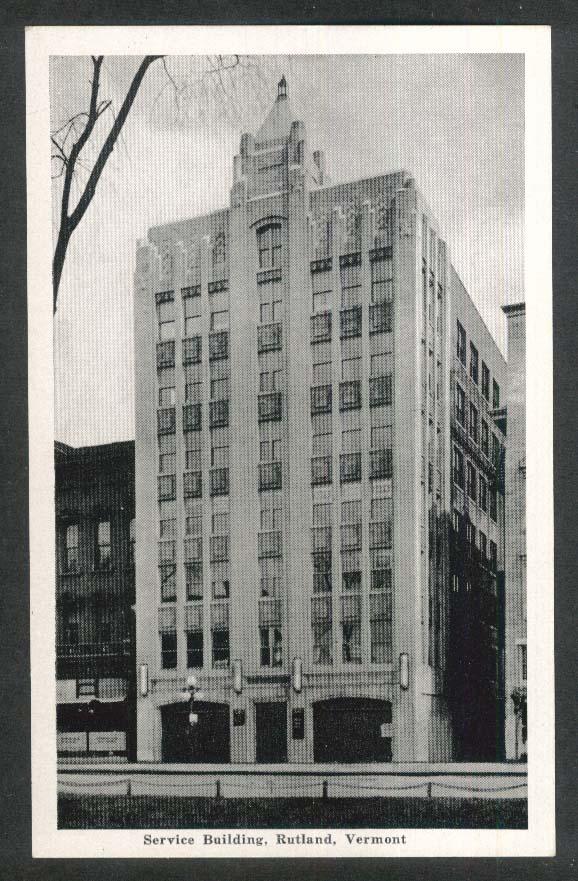 Service Building Rutland VT postcard 1930s