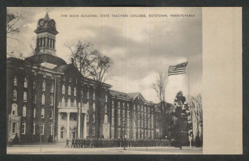 The Main Building State Teachers College Kutztown PA postcard 1940s