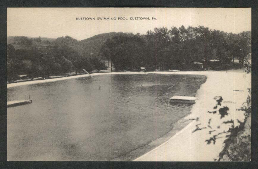 Kutztown Swimming Pool Kutztown PA postcard 1940s