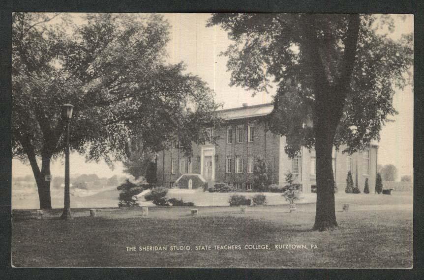 Sheridan Studio State Teachers College Kutztown PA postcard 1940s
